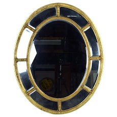 Vintage Friedman Bros The Burnside Adams Regency Gilt Wood Oval Mirror