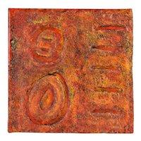 """Origens"" Heavy Impasto Textural Abstract Painting Didi Marchi Miami Artist"