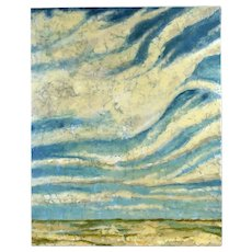 """Skyward II"" Heavy Impasto Big Sky Landscape Textural Painting Signed Miller"