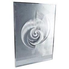 Patrick Dupre Aluminum Hologram OP Art Editions Lahumiere Chrome signed