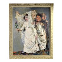 Walter Spitzer Jewish Bride Wedding Allegory Painting Polish French Artist