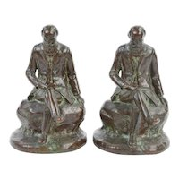 John Burroughs Naturalist Conservationist Bronze Bookends