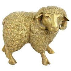 Horned Sheep Ram Figural Bronze Sculpture signed L/E 25 DaNisha Dan Ferguson