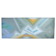 Monumental Geometric Op Art Abstract Acrylic Painting Douglas Peden