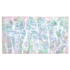 Vintage Large Abstract Acrylic Painting Pastel Colors Edward Goldman