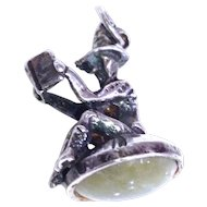 Sterling Silver 'Elf' Charm 1950's Hallmarked