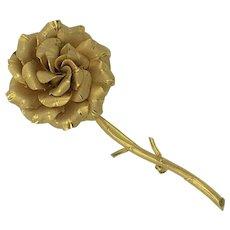 Vintage Gold Filled Flower Brooch hallmarked