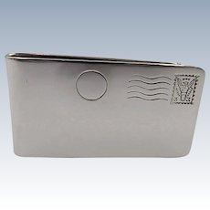 Men's  Sterling Silver Money Clip hallmarked