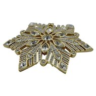 Mint condition Swarovski Crystal Brooch hallmarked