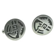 Vintage  Native American Hopi Silver Cuff Links