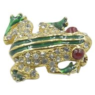 Adorable Vintage Frog Brooch