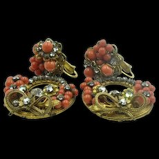 Classic 1940's Signed 'Vogue' Clip-On Earrings