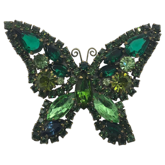 Exquisite 1940's Crystal Butterfly