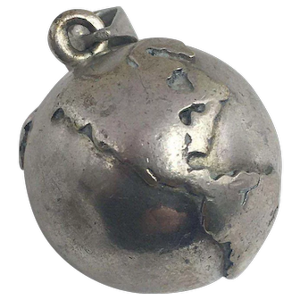 Vintage Sterling Silver Bell Pendant hallmarked