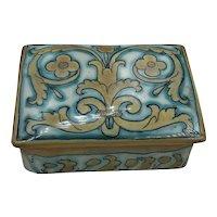 Beautiful Ceramic Italian Treasure Box hallmarked