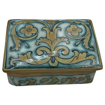 Beautiful Ceramic Italian Treasure Box hallmarked