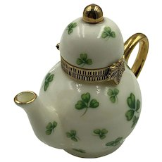 Miniature 'Lefton China' Teapot Box signed