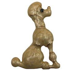 Vintage Enameled Poodle Brooch
