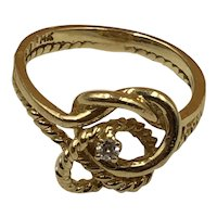14K Gold and Diamond Ring size 7