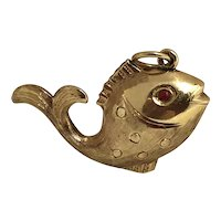 "Vintage Solid 14K  ""Gold Fish"" Charm"