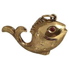 "Vintage 14K  ""Gold Fish"" Charm"