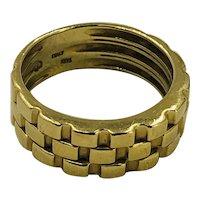 Vintage  Italian 14K Gold Ring hallmarked 'B' size 7