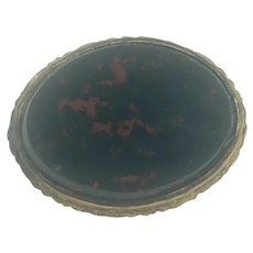 Antique Bloodstone Brooch