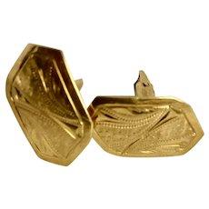 Victorian 18K Gold Men's Cuff Links Hallmarked
