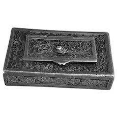 Antique Silver Filagree Vinaigrette