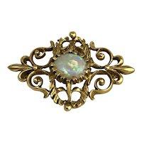 Antique 14K gold & Opal Brooch or Pendant