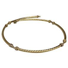 Italian 14K Gold Necklace Hallmarked
