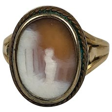 Antique Gold Cameo Ring Size 5.25