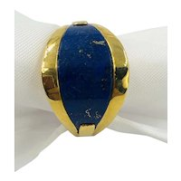 Vintage 18K Gold and Lapis Ring size 6.5