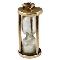 Vintage 14K Gold Hourglass Charm