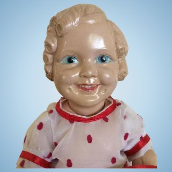 Lovely Celluloid Shirley Temple Doll.Excellent Condition