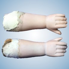 Antique bisque forearms.German doll