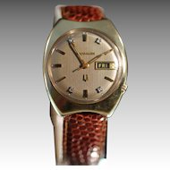 Bulova Accutron Watch 14k Yellow Gold, 1970 Diamond Dial, Men's Watch