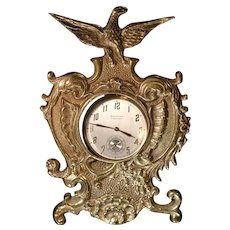 Vintage Virginia Metalcrafters Solid Brass Ornate Pocket Watch Holder
