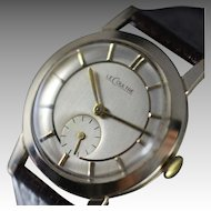 1952 Simply Beautiful Vacheron & Constantin, Le Coultre  Solid 14K Gold Vintage Dress Watch.