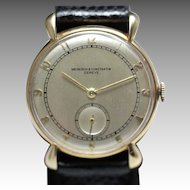 1939 Vacheron & Constantin 14K Solid Gold Vintage Watch