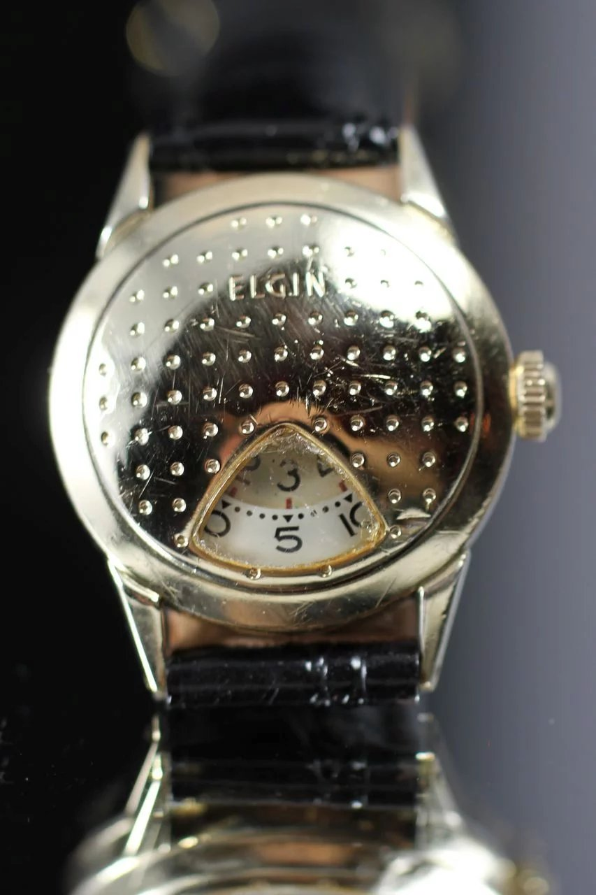 1957 Elgin Golf Ball Direct Read Watch Vintage Watches
