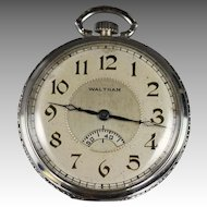 1927 Waltham Secometer Pocket Watch with Pocket Knife and  Chain