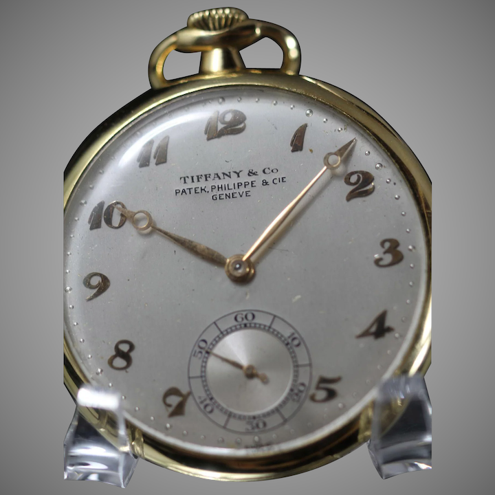 7d614fb2152 Patek Philippe for Tiffany   Co. 18 kt Gold. Pocket Watch 1955 ...