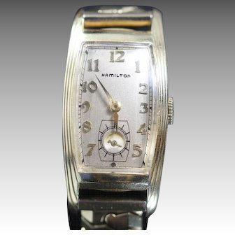 "HAMILTON  Linwood Curvex Vintage 14k Yellow Gold Filled ""Beautiful Watch"""