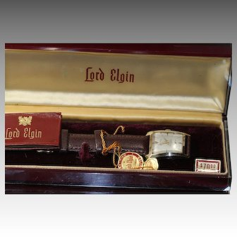 1952 Lord Elgin Rare Hour Glass Asymmetrical Watch