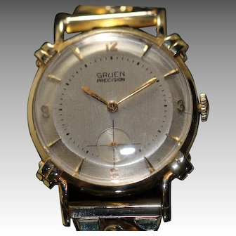 Gruen 14k Solid Gold Vintage Men's Watch
