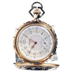 Elgin National Watch Co. 14K Gold, Fancy Dial Pocket Watch, Circa 1883