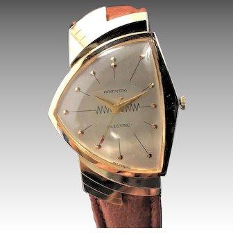 1957 Hamilton Ventura 14K Gold Watch