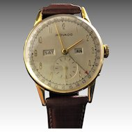Movado Calendograf Mens Watch,  circa 1945