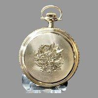 1893 Waltham  14K Sold Gold Pocket Watch